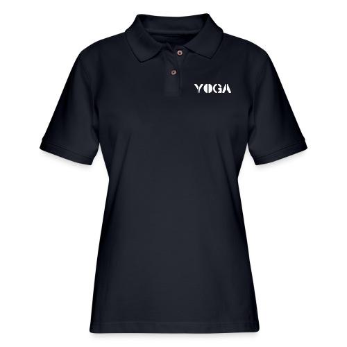 YOGA white - Women's Pique Polo Shirt
