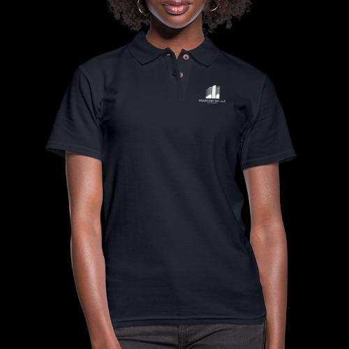 MEGACORP - GIANT EVUL CORPORATION - Women's Pique Polo Shirt