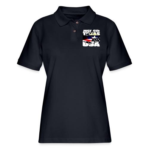 July 4th Texas USA - Women's Pique Polo Shirt