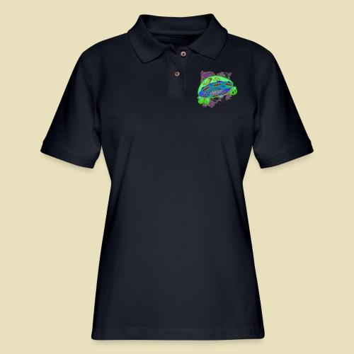 Ongher's UFO Flying Saucer - Women's Pique Polo Shirt