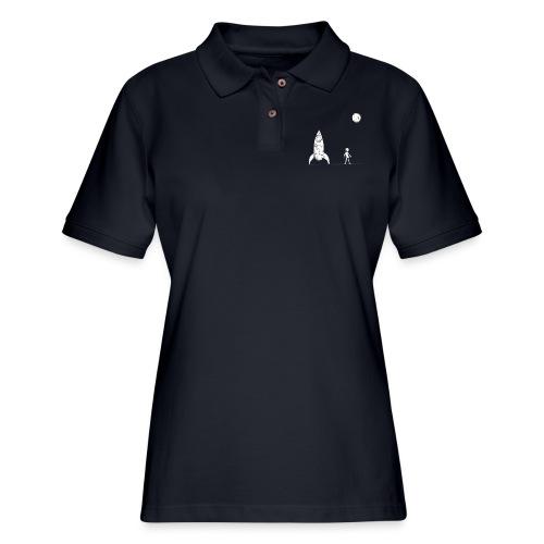 rocket to the moon - Women's Pique Polo Shirt