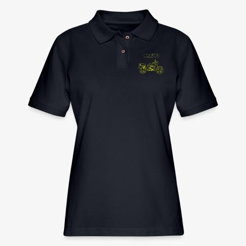 CX500 line drawing - Women's Pique Polo Shirt