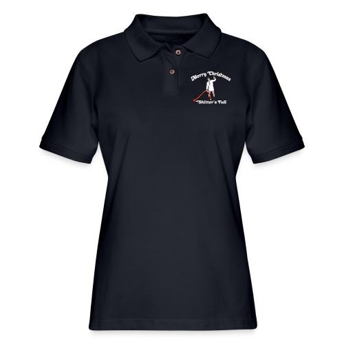 Cousin Eddie - Shitter's Full! - Women's Pique Polo Shirt