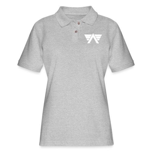 Bordeaux Sweater White AeRo Logo - Women's Pique Polo Shirt