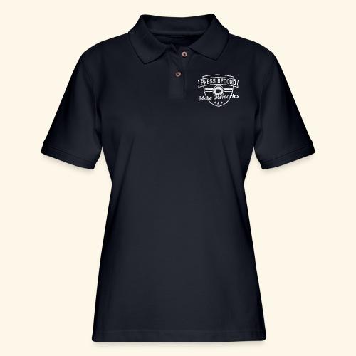 pressrecord_makememories2 - Women's Pique Polo Shirt