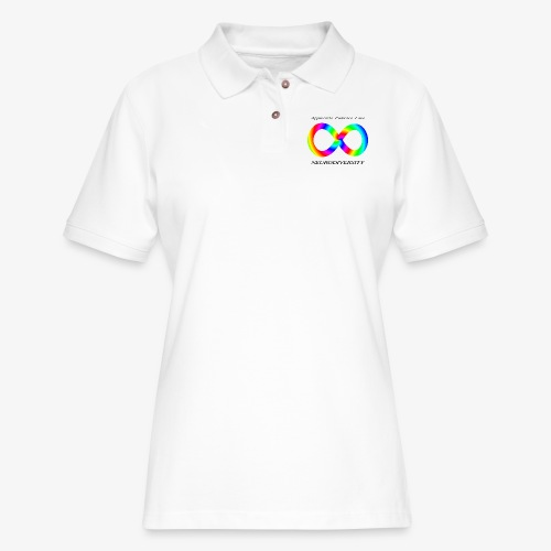 Embrace Neurodiversity with Swirl Rainbow - Women's Pique Polo Shirt