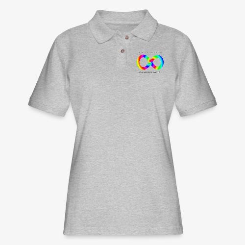 Embrace Neurodiversity with Swirl Rainbow - Women's Pique Polo Shirt