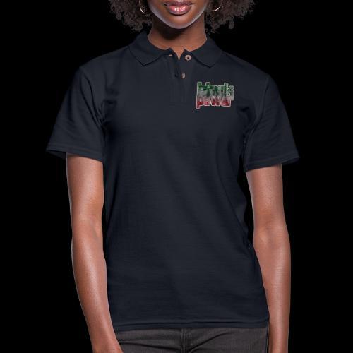Black Power - Women's Pique Polo Shirt