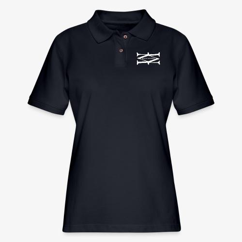Matt Massey Logo White - Women's Pique Polo Shirt