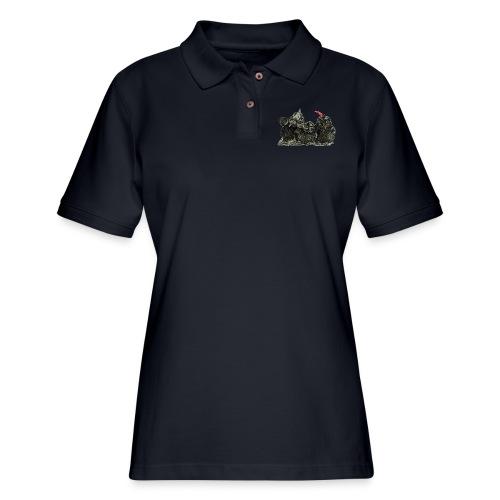 Three Young Crows - Women's Pique Polo Shirt