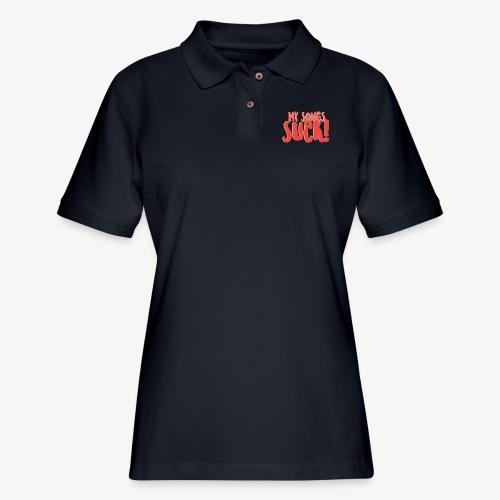 My Songs Suck Logo - Women's Pique Polo Shirt