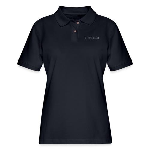 We In The Haus Logo - Women's Pique Polo Shirt