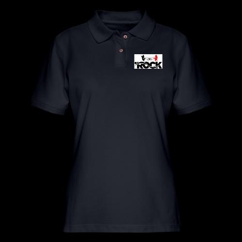 Eye Rock Devil Design - Women's Pique Polo Shirt