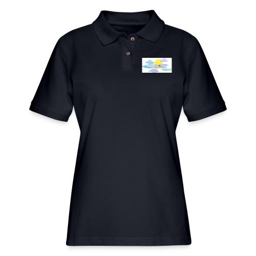 Sea of Clouds - Women's Pique Polo Shirt