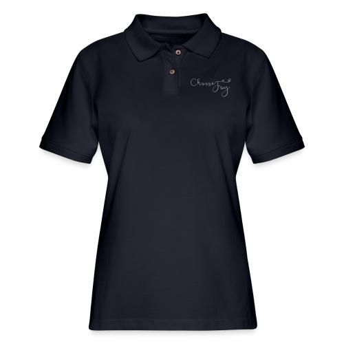 Choose Joy - Women's Pique Polo Shirt