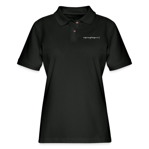 Pick up the poo dog shirt - Women's Pique Polo Shirt