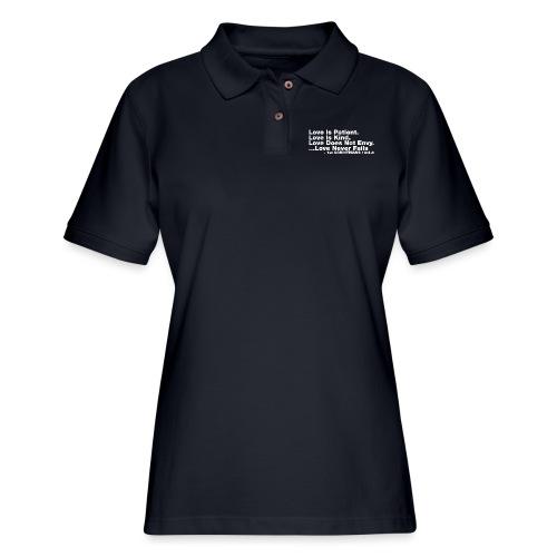 Love Bible Verse - Women's Pique Polo Shirt