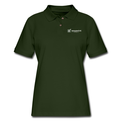 Waypoint Logo (Light Version) - Women's Pique Polo Shirt