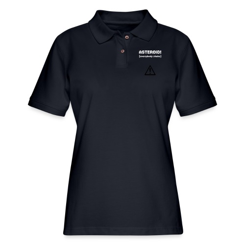 Spaceteam Asteroid! - Women's Pique Polo Shirt