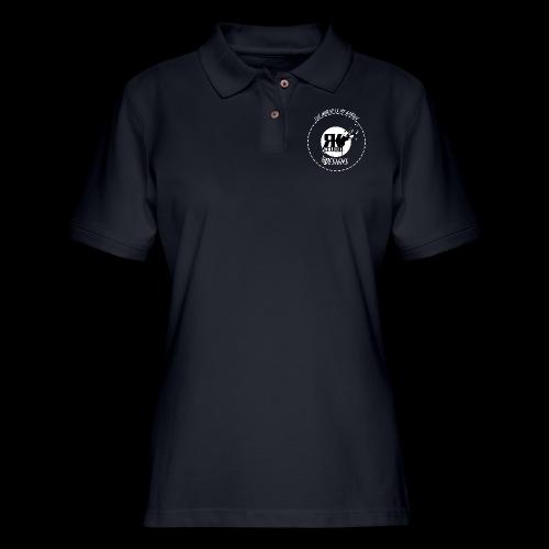 The World is My Garage - Women's Pique Polo Shirt