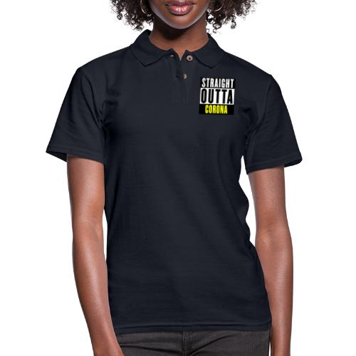 Straight Outta Corona - Women's Pique Polo Shirt