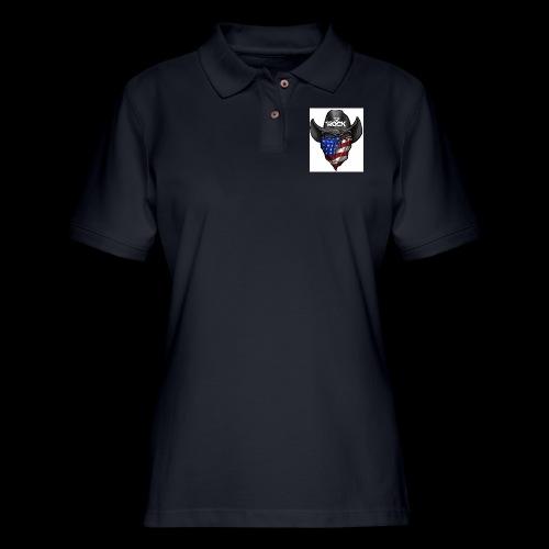 Eye rock cowboy Design - Women's Pique Polo Shirt