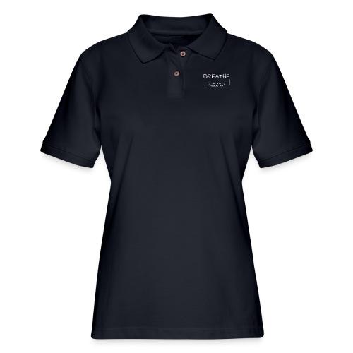 breathe - that's my algorithm - Women's Pique Polo Shirt