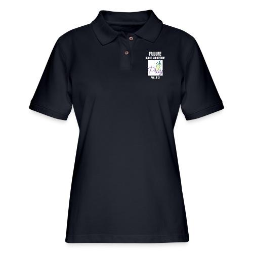 Failure Is NOT an Option! - Women's Pique Polo Shirt