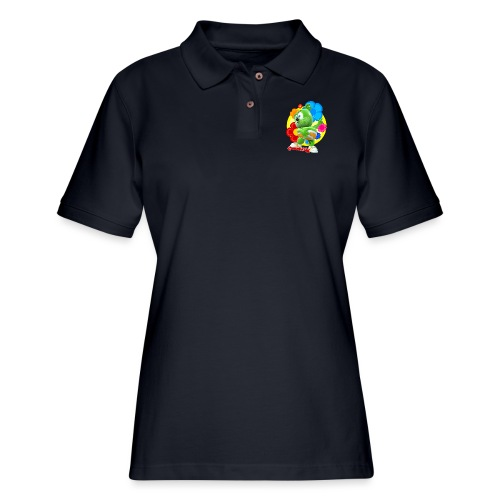 Gummibär Flowers - Women's Pique Polo Shirt