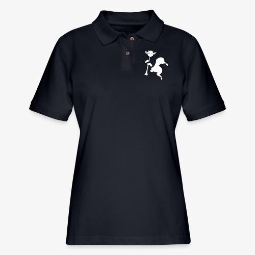 imagika white - Women's Pique Polo Shirt