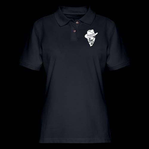 DREAM BANDITS WHITE Large Logo - Women's Pique Polo Shirt