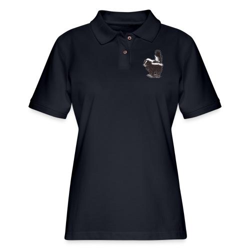 Cool cute funny Skunk - Women's Pique Polo Shirt