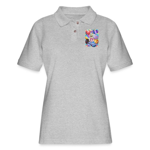 FIND THE BUNNY - Women's Pique Polo Shirt