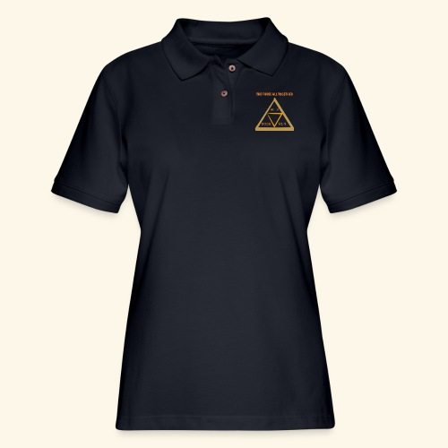 Run4Dogs Triangle - Women's Pique Polo Shirt