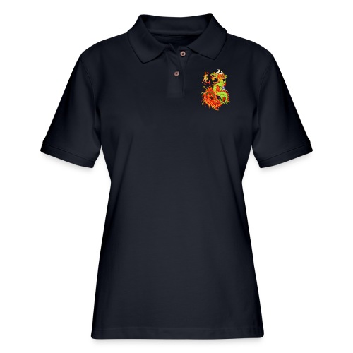 New Year Dragon and Symbol - Women's Pique Polo Shirt