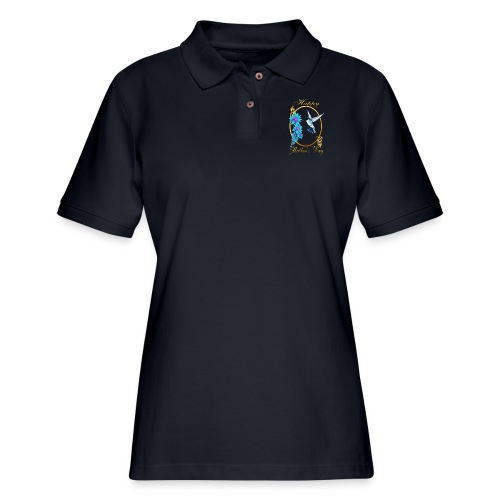 Mother's Day with humming birds - Women's Pique Polo Shirt