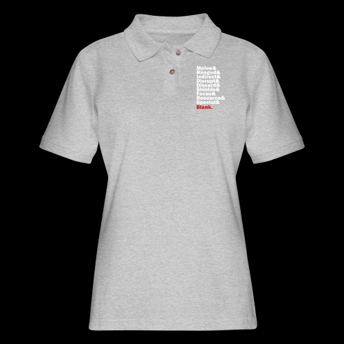 Discard to Reroll - Sides of the Die - Women's Pique Polo Shirt