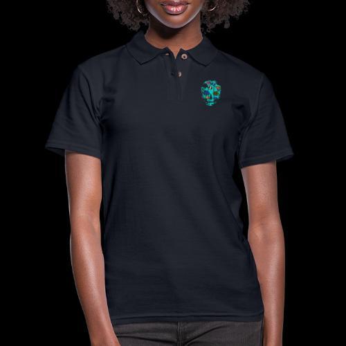 Underwater Skull - Women's Pique Polo Shirt