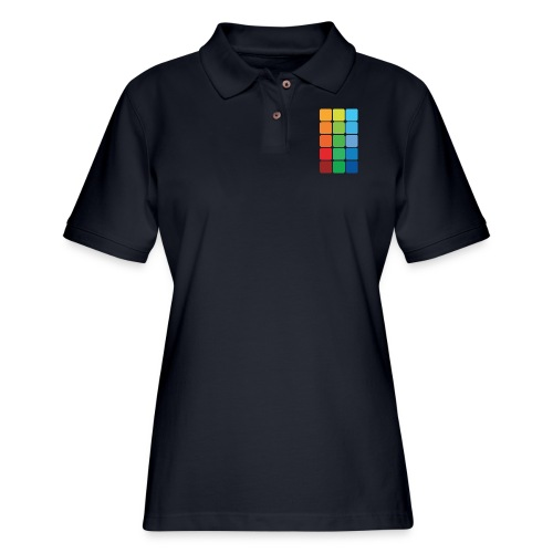 Square color - Women's Pique Polo Shirt