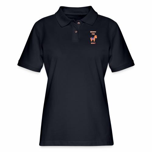 Brody the goat - Women's Pique Polo Shirt