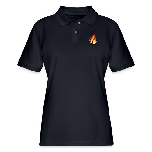 HL7 FHIR Flame Logo - Women's Pique Polo Shirt