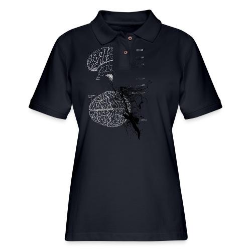 brain storm designer graphic - Women's Pique Polo Shirt