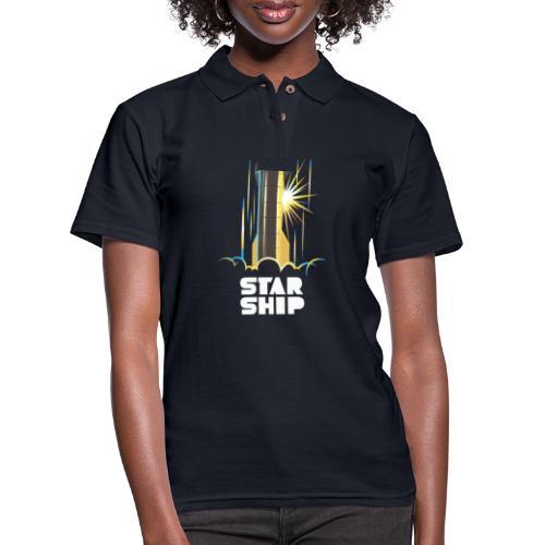 Star Ship Earth - Dark - Women's Pique Polo Shirt