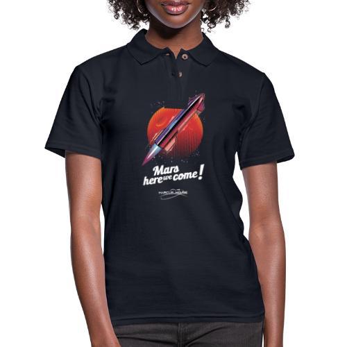 Mars Here We Come - Dark - With Logo - Women's Pique Polo Shirt