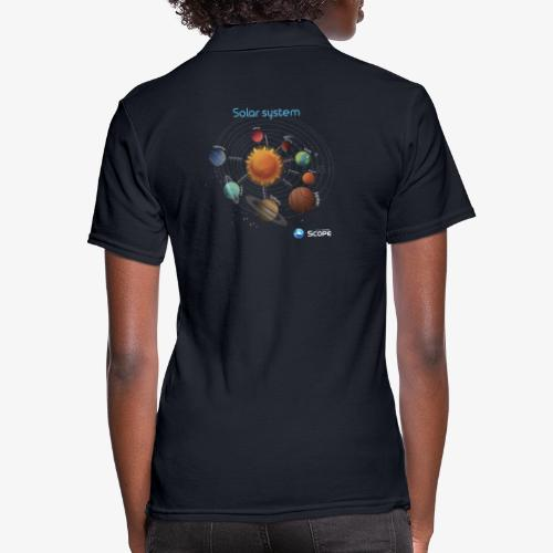 Solar System Scope : Solar System - Women's Pique Polo Shirt