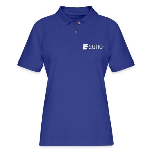 EUNO LOGO LANDSCAPE WHITE - Women's Pique Polo Shirt