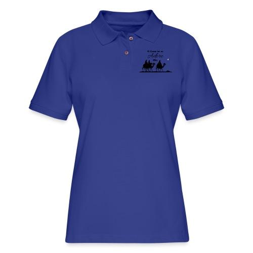 O Come Let Us Adore Him - Women's Pique Polo Shirt
