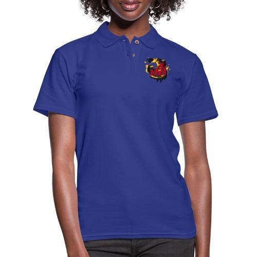 BAB Logo on FIRE! - Women's Pique Polo Shirt