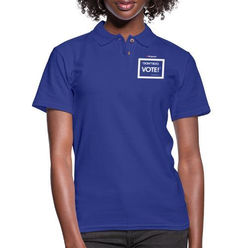 BULGEBULL DONT BOO - Women's Pique Polo Shirt