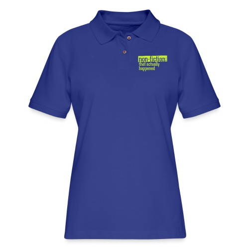 non fiction.png - Women's Pique Polo Shirt
